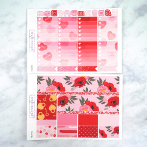 Plannerface Hearts Weekly Kit Planner Stickers