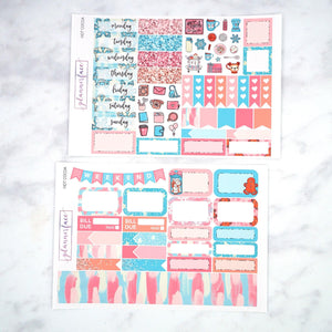 Plannerface Hot Cocoa Mini Kit Planner Stickers