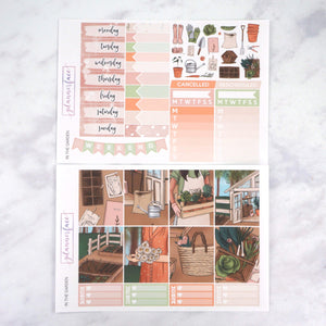 Plannerface In The Garden Weekly Kit Planner Stickers