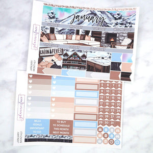 Plannerface January Monthly Kit Planner Stickers