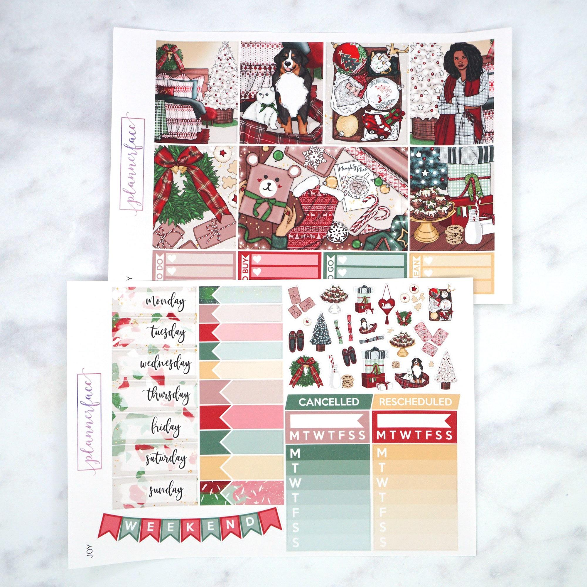 Plannerface Joy Weekly Kit Planner Stickers