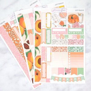 Plannerface Just Peachy Mini Kit Planner Stickers