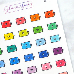 Plannerface Laptop Multicolour Doodles Planner Stickers