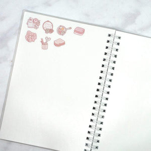 "Plannerface Lazy Day Reusable Sticker Album (5"" x 7"") Planner Stickers"
