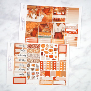 Plannerface Leaves Mini Kit Planner Stickers