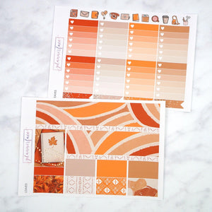 Plannerface Leaves Weekly Kit Planner Stickers