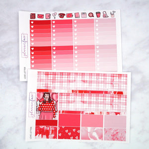 Plannerface Love Letter Weekly Kit Planner Stickers