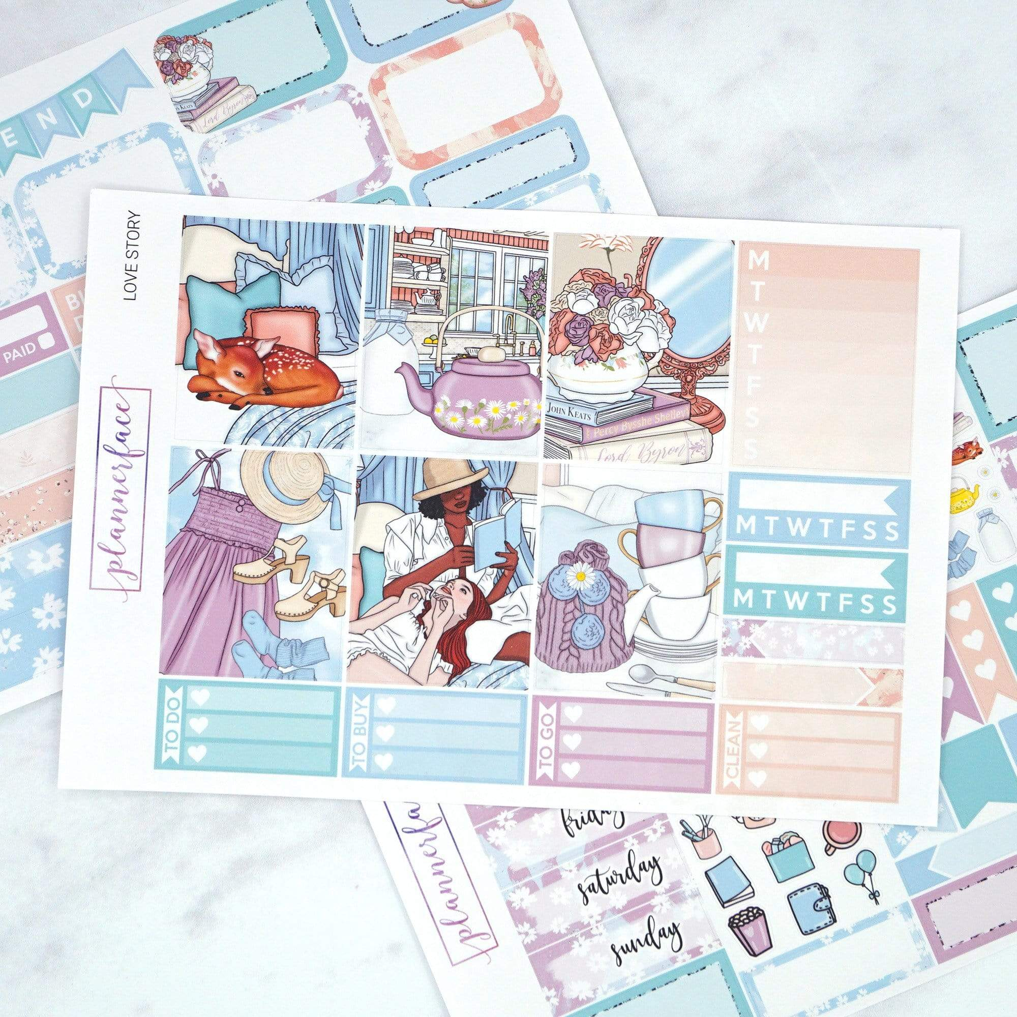 Plannerface Love Story Mini Kit Planner Stickers