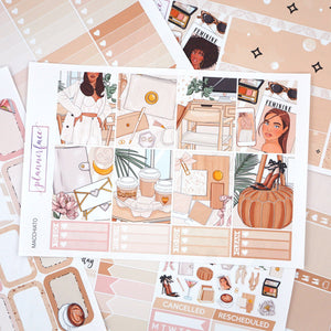 Plannerface Macchiato Weekly Kit Planner Stickers