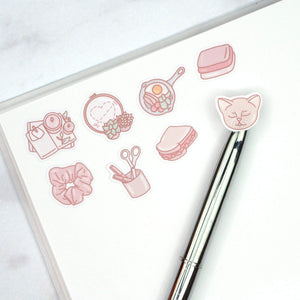 "Plannerface Marble Reusable Sticker Album (5"" x 7"") Planner Stickers"
