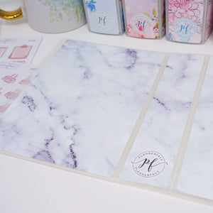 Plannerface Marble Sticker Album (Small) Planner Stickers