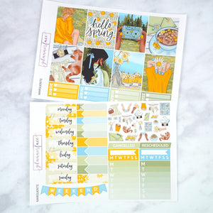 Plannerface Marguerite Weekly Kit Planner Stickers
