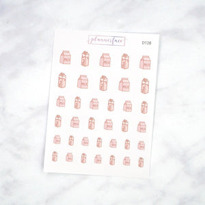 Plannerface Milk Doodles Planner Stickers