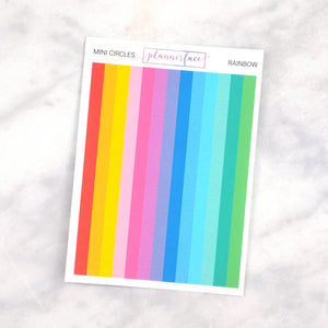 Plannerface Mini Circles - RAINBOW | Multicolour Planner Stickers