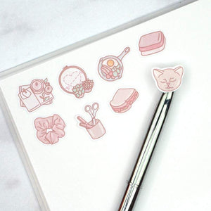 "Plannerface Moon Reusable Sticker Album (5"" x 7"") Planner Stickers"