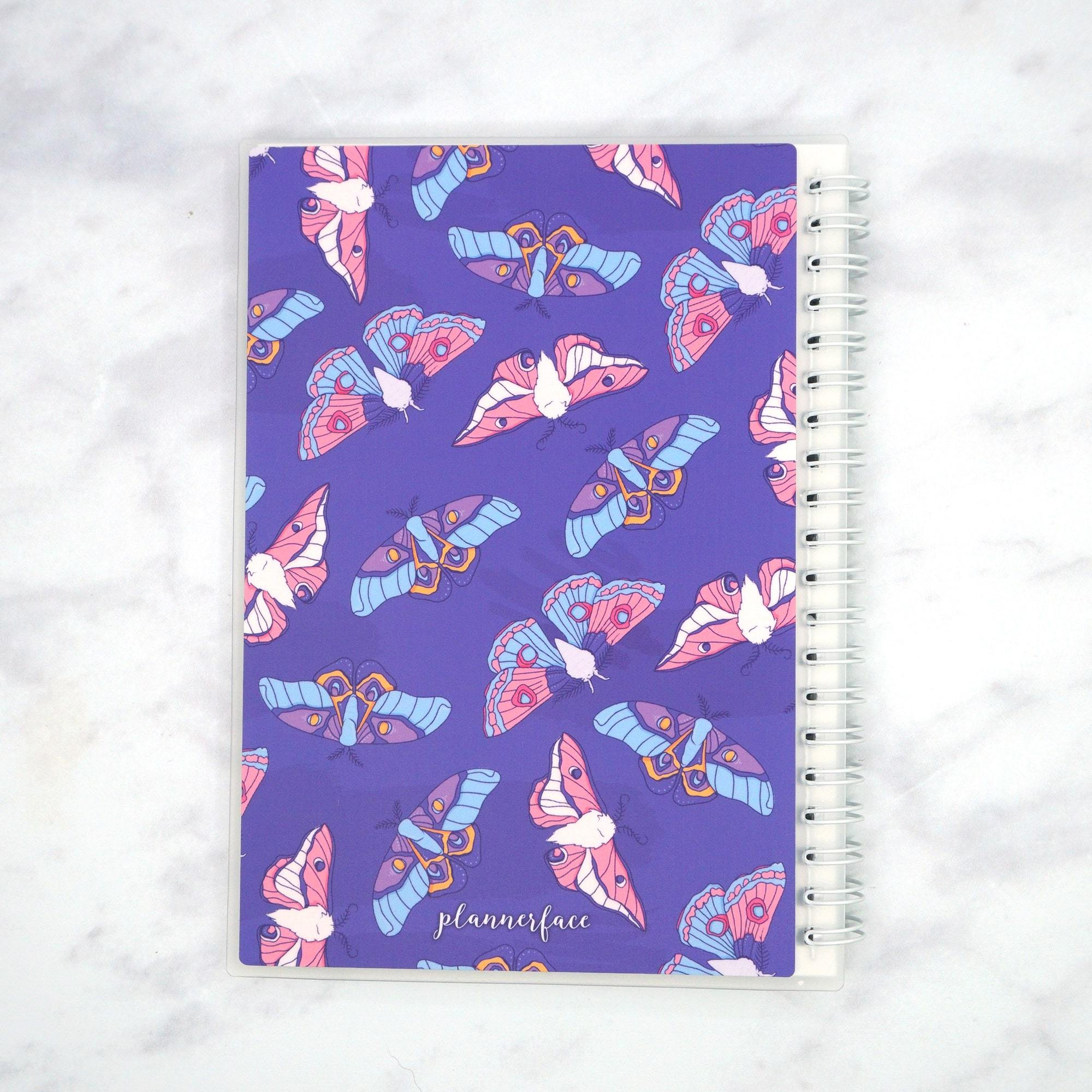 "Plannerface Moth Reusable Sticker Album (5"" x 7"") 