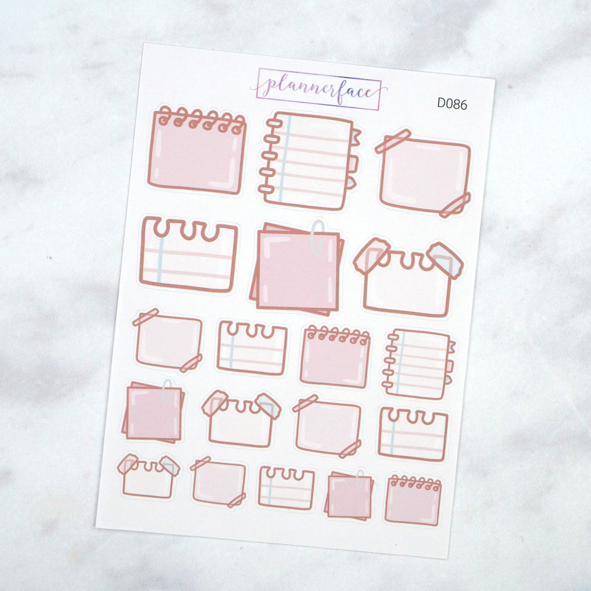 Plannerface Note Paper Doodles Planner Stickers