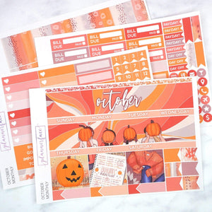 Plannerface October Monthly Kit Planner Stickers