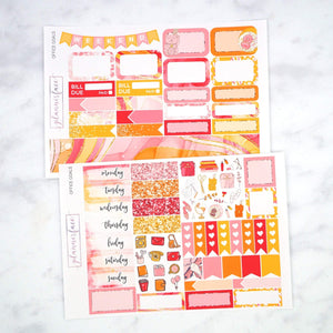 Plannerface Office Goals Mini Kit Planner Stickers