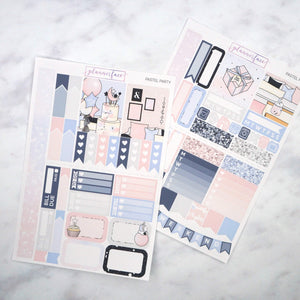 Plannerface Pastel Party Mini Kit Planner Stickers