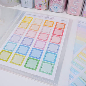 Plannerface Peace Sticker Album (Large) Planner Stickers