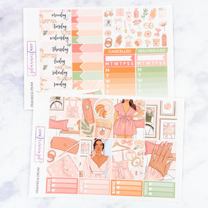 Plannerface Peaches & Cream Weekly Kit Planner Stickers