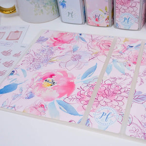 Plannerface Pink Floral Sticker Album (Small) Planner Stickers