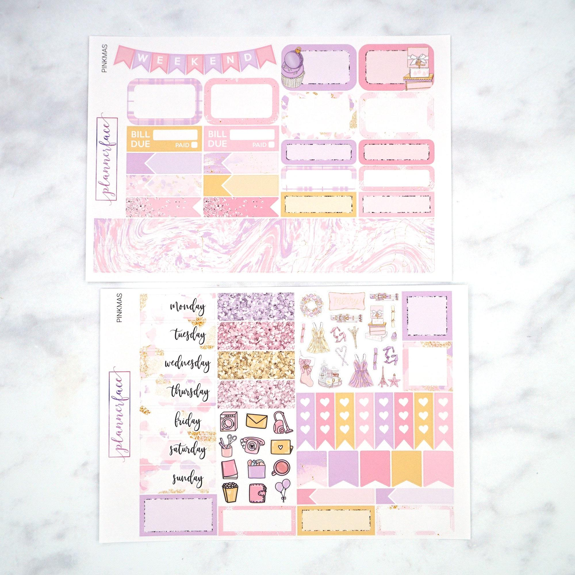 Plannerface Pinkmas Mini Kit Planner Stickers