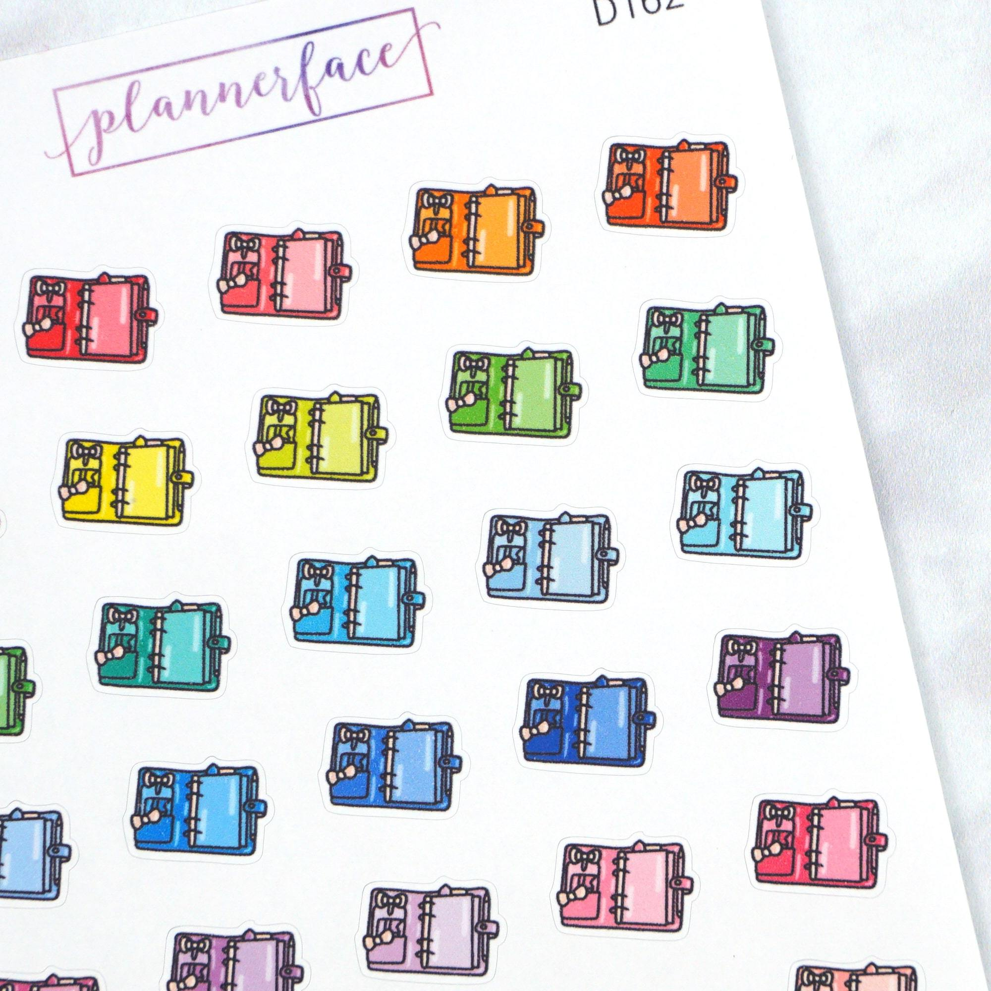 Plannerface Planner Multicolour Doodles Planner Stickers