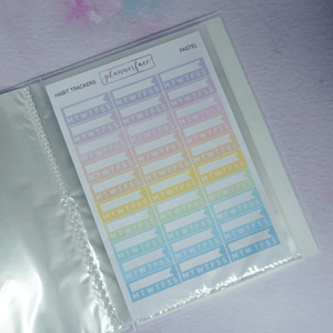 Plannerface Purple Reign Sticker Album (Large) Planner Stickers