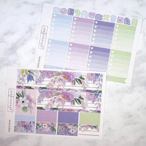Plannerface Purple Reign Weekly Kit Planner Stickers