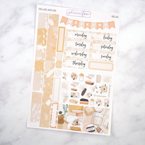 Plannerface Relax Mini Kit Planner Stickers