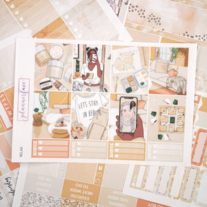 Plannerface Relax Weekly Kit Planner Stickers