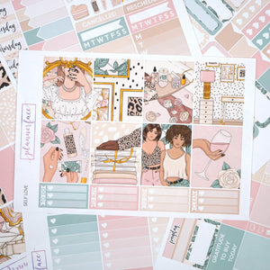 Plannerface Self Love Weekly Kit Planner Stickers