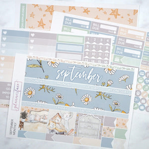 Plannerface September Monthly Kit Planner Stickers