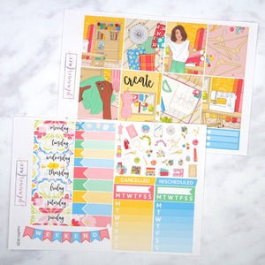 Plannerface Sew Happy Weekly Kit Planner Stickers