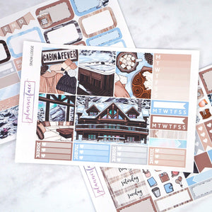 Plannerface Snow Lodge Mini Kit Planner Stickers