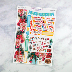 Plannerface So Merry Mini Kit Planner Stickers