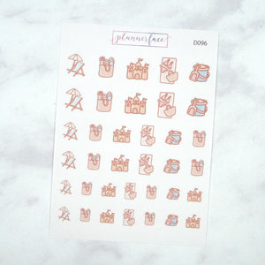 Plannerface Spa Day Doodles Planner Stickers