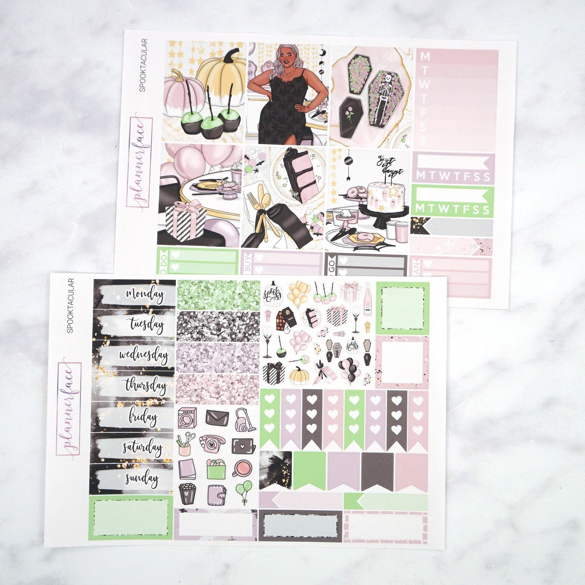 Plannerface Spooktacular Mini Kit Planner Stickers