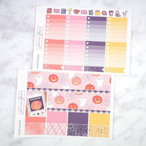 Plannerface Spooky Season Weekly Kit Planner Stickers