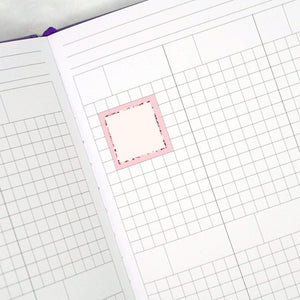 Plannerface Square Boxes | Multicolour Rainbow Planner Stickers