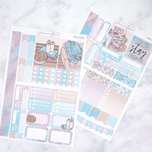 Plannerface Stay Home Mini Kit Planner Stickers