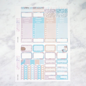 Plannerface Stay Home Weekly Kit Planner Stickers