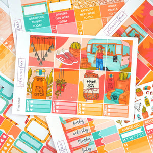 Plannerface Street Fair Weekly Kit Planner Stickers