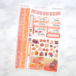 Plannerface Sunset Pumpkin Mini Kit Planner Stickers