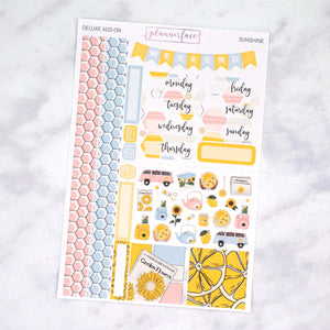 Plannerface Sunshine Mini Kit Planner Stickers