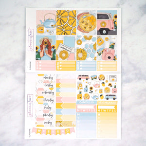 Plannerface Sunshine Weekly Kit Planner Stickers