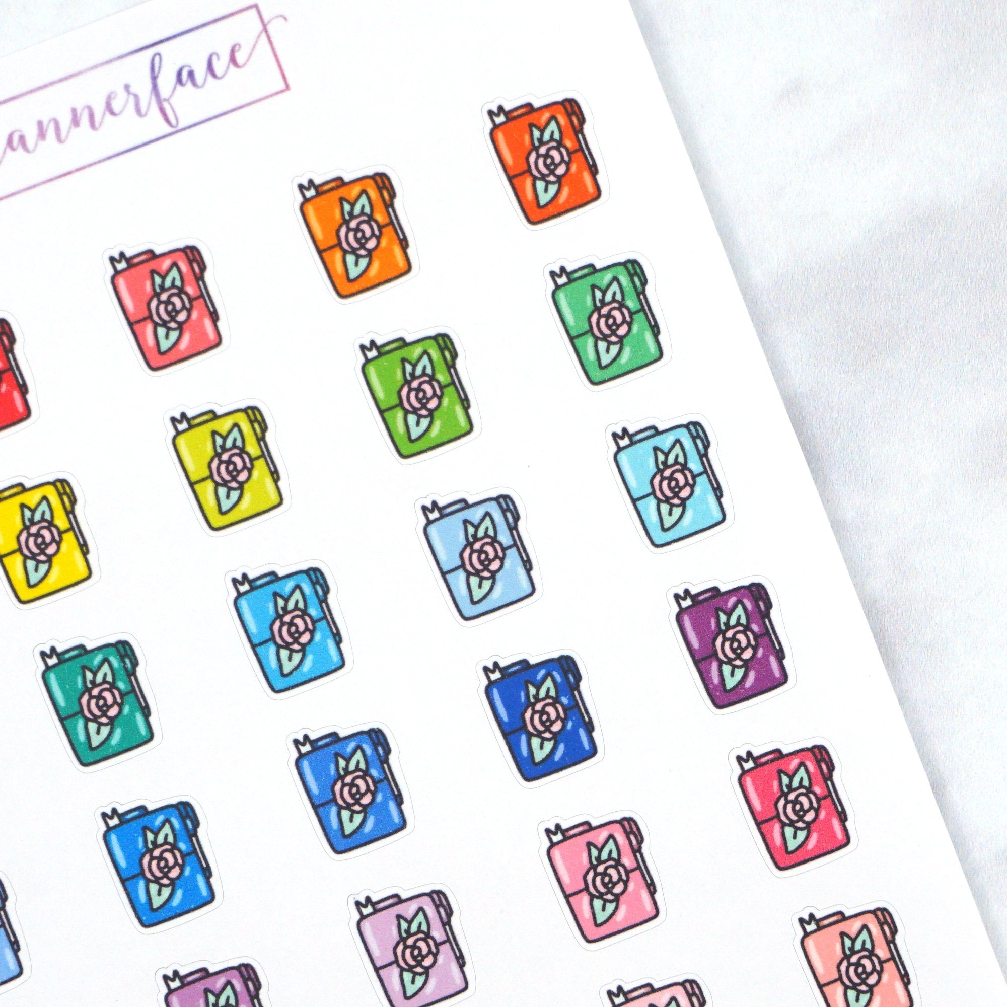 Plannerface Travellers Notebook Multicolour Doodles Planner Stickers