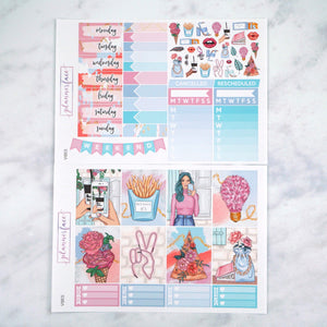 Plannerface Vibes Weekly Kit Planner Stickers